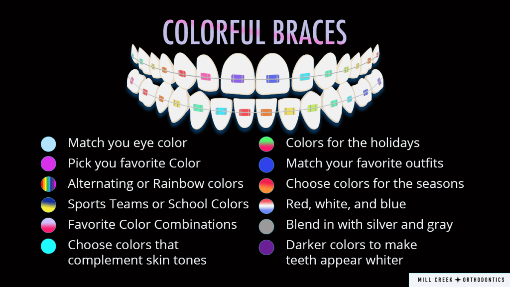 colorful braces illustration